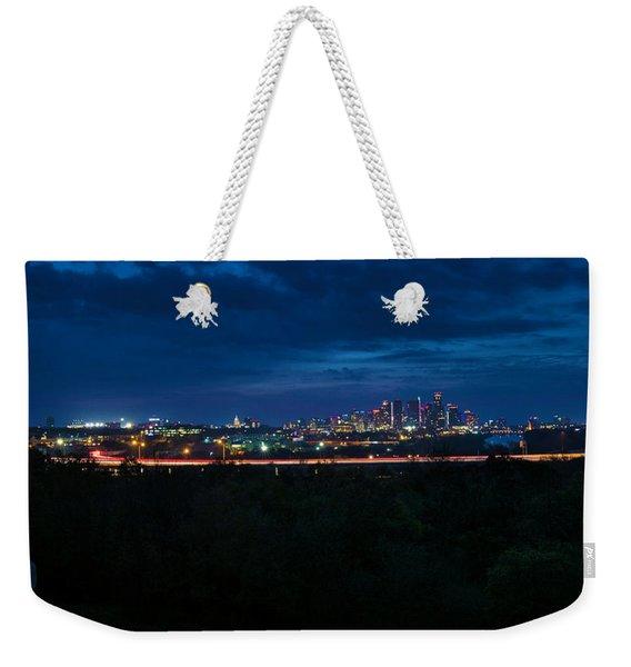 Good Morning Austin Weekender Tote Bag