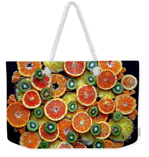 Good Morning Fruit Weekender Tote Bag