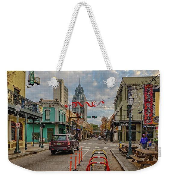 Good Morning Mobile 5 Weekender Tote Bag