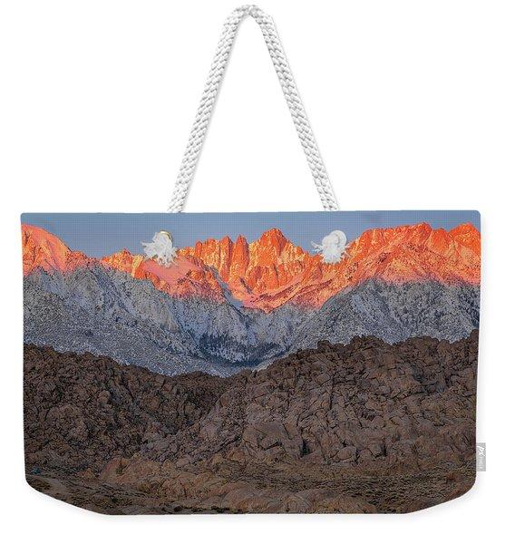 Good Morning Mount Whitney Weekender Tote Bag