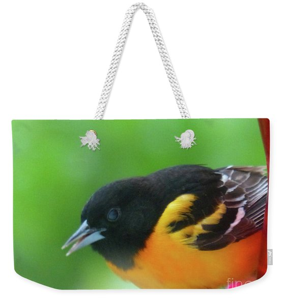 Good Morning Mr. Oriole Weekender Tote Bag