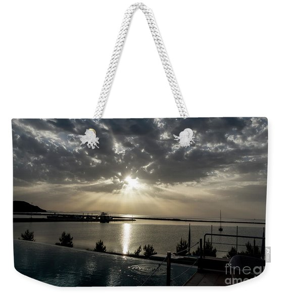 Weekender Tote Bag featuring the photograph Good Morning Vacation by Arik Baltinester