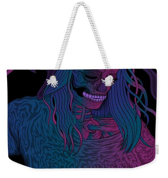 Good Vibes Skelegirl Weekender Tote Bag