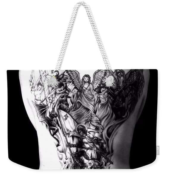Good Vs Evil Weekender Tote Bag