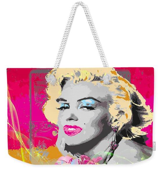 Weekender Tote Bag featuring the digital art Goodbye Norma Jean  by Eleni Mac Synodinos