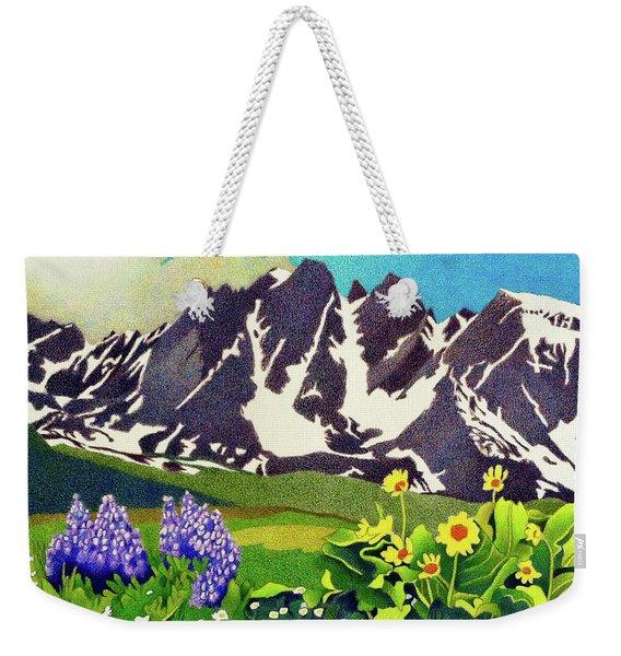 Gore Range Wildflowers Weekender Tote Bag