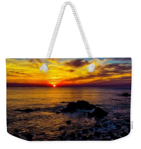 Gorgeous Coastal Sunset Weekender Tote Bag