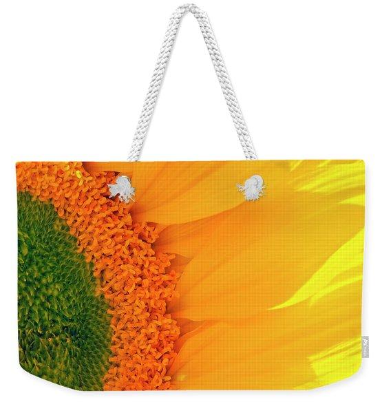 Gorgeous Sunflower Macro Weekender Tote Bag