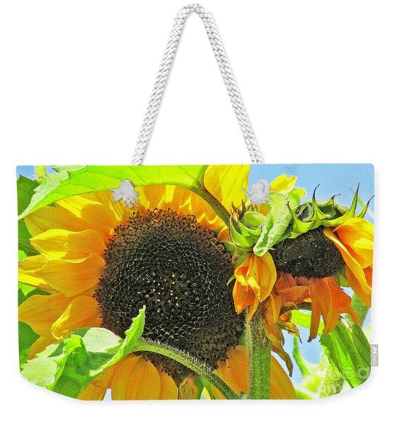 Gospel Flat Sunflowers Weekender Tote Bag