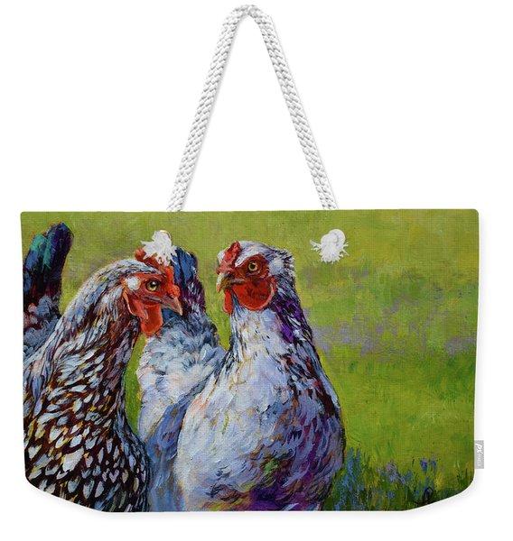 Gossip Hour Weekender Tote Bag