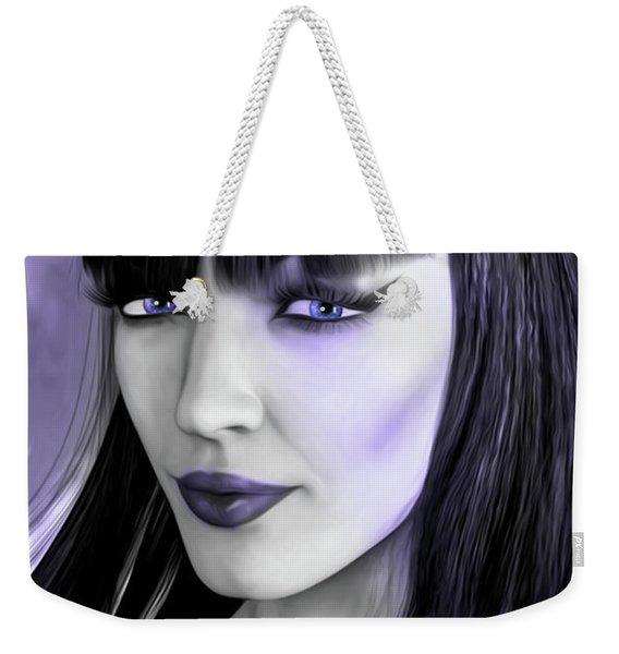 Goth Portrait Purple Weekender Tote Bag