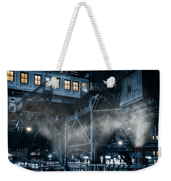 Weekender Tote Bag featuring the photograph Gotham City by Mihai Andritoiu