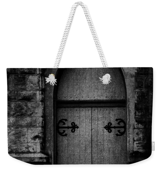 Gothic Door Memphis Church Bw Weekender Tote Bag