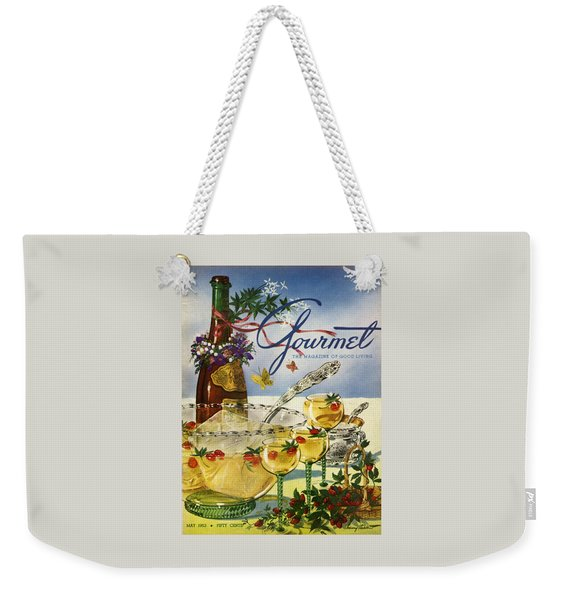 Gourmet Cover Featuring A Bowl And Glasses Weekender Tote Bag