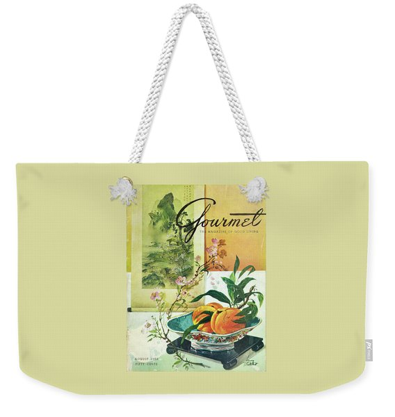 Gourmet Cover Featuring A Bowl Of Peaches Weekender Tote Bag
