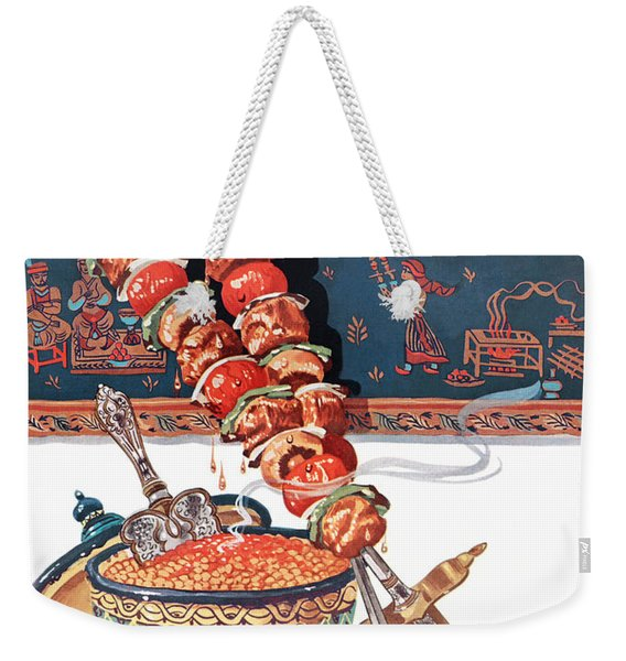 Gourmet Magazine September 1948 Weekender Tote Bag