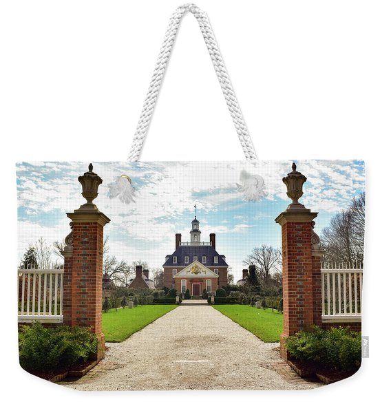 Governor's Palace In Williamsburg, Virginia Weekender Tote Bag