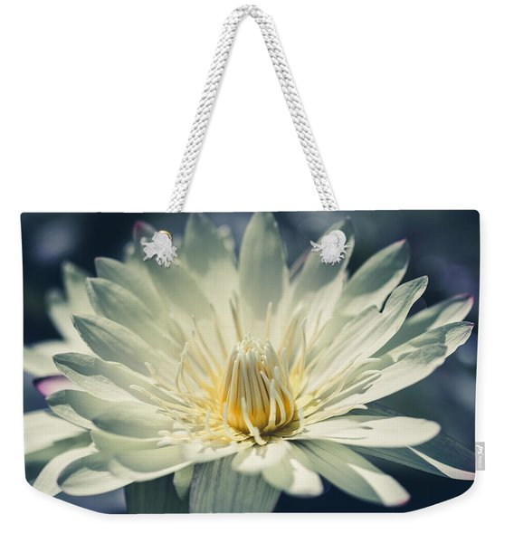 Weekender Tote Bag featuring the photograph Grace by Laura Roberts
