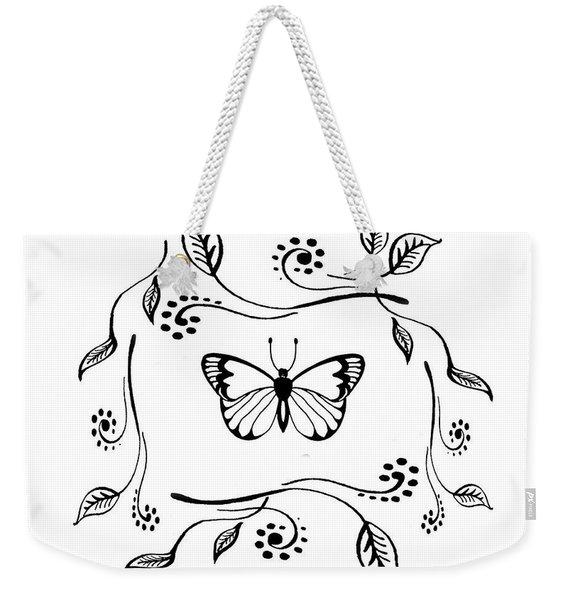 Graceful Butterfly Baby Room Decor Iv Weekender Tote Bag