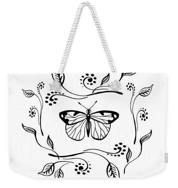 Graceful Butterfly Baby Room Decor V Weekender Tote Bag