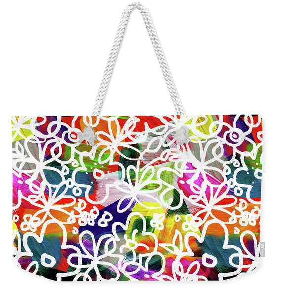 Graffiti Garden 2- Art By Linda Woods Weekender Tote Bag