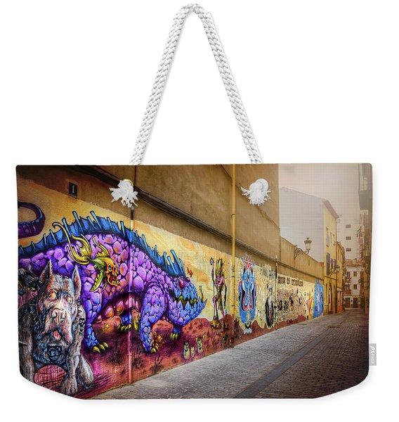 Graffiti Street In Valencia Spain  Weekender Tote Bag