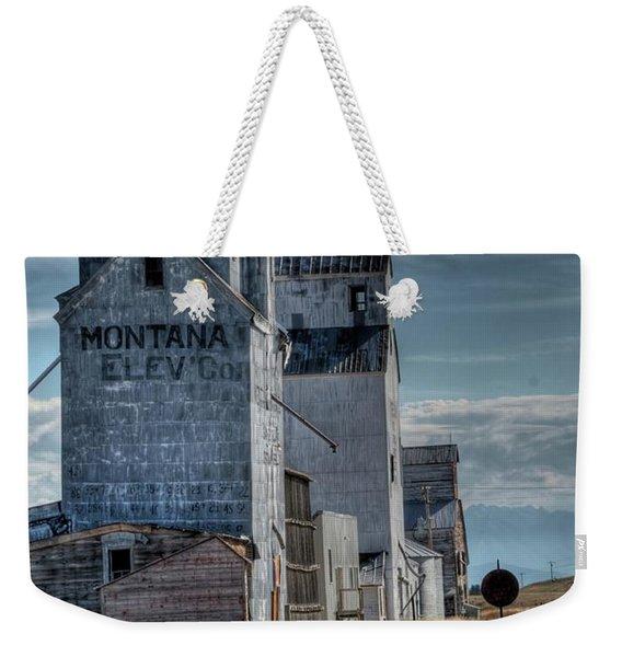 Grain Elevators, Wilsall Weekender Tote Bag