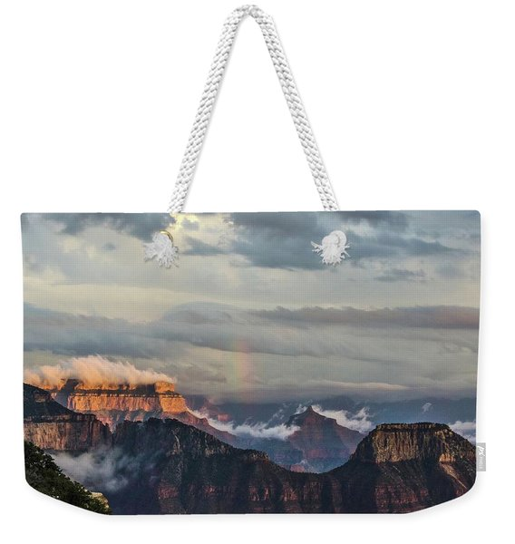 Grand Canyon Monsoon Rainbow Weekender Tote Bag