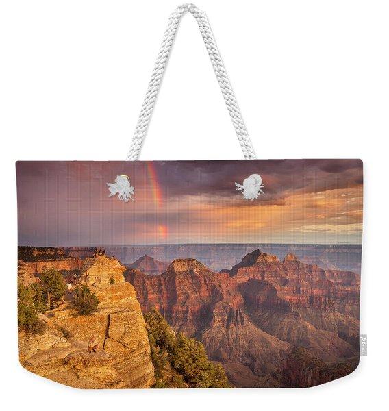 Grand Canyon North Rim Rainbow Weekender Tote Bag