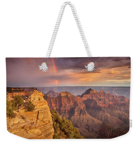Grand Canyon North Rim Rainbow Weekender Tote Bag