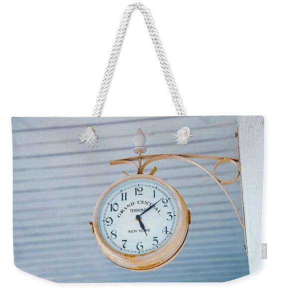 Grand Central Time 1 Weekender Tote Bag