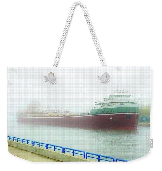 Grand Haven In The Fog Weekender Tote Bag