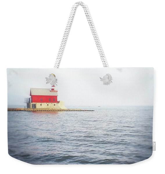 Grand Haven Lighthouse From North Pier Weekender Tote Bag