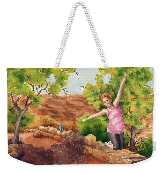 Grand Leap Weekender Tote Bag