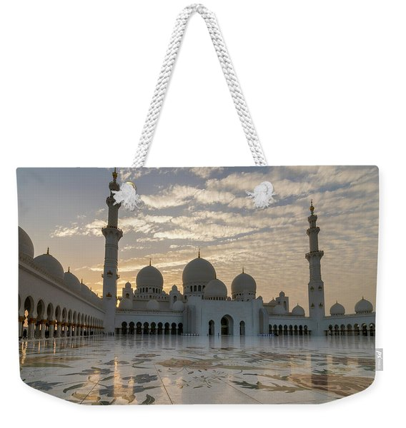 Grand Mosque Sunset Weekender Tote Bag