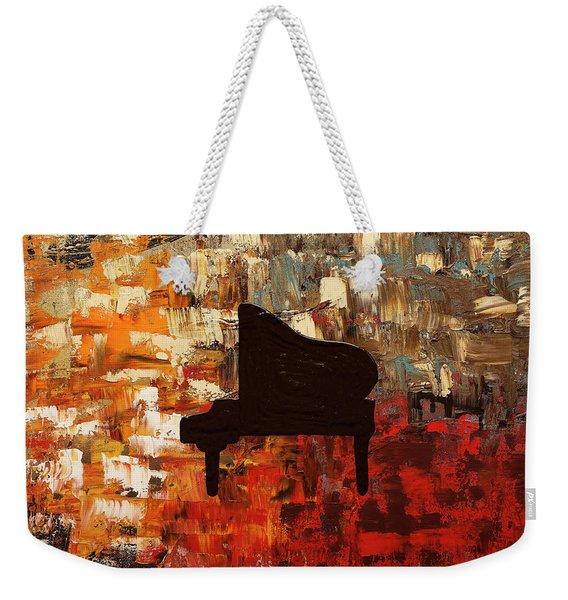 Grand Piano Weekender Tote Bag