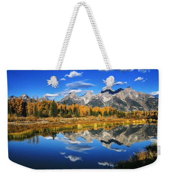 Grand Teton Autumn Beauty Weekender Tote Bag