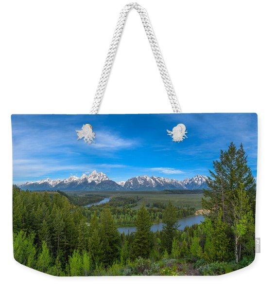Grand Teton Vista Weekender Tote Bag