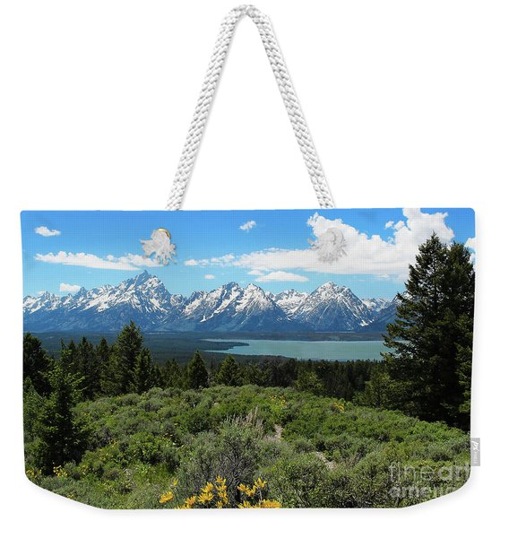 Weekender Tote Bag featuring the photograph Grand Tetons by Jemmy Archer