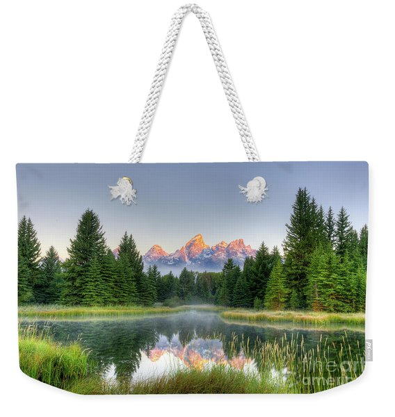 Grand Tetons Sunrise 2 Weekender Tote Bag