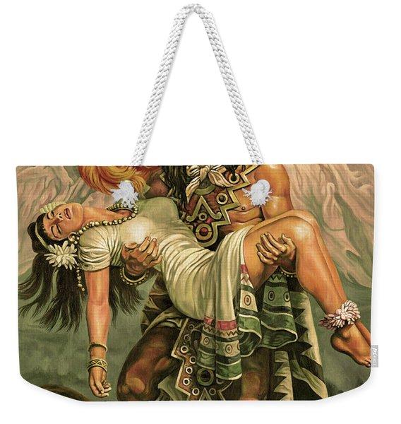 Grandeza Azteca Sepia Weekender Tote Bag