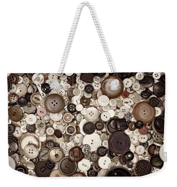 Grandmas Buttons Weekender Tote Bag