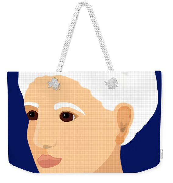 Weekender Tote Bag featuring the painting Grandmother by Marian Cates