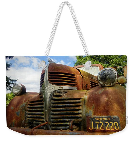 Weekender Tote Bag featuring the photograph Grandpa by Skip Hunt