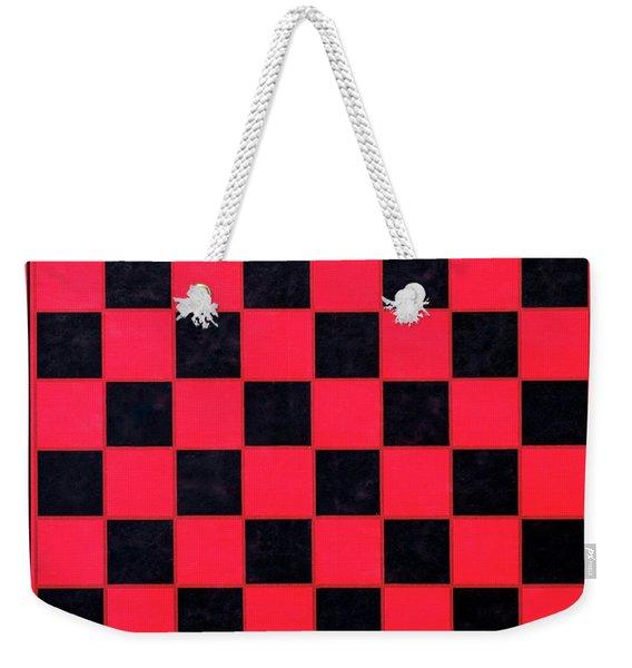 Grandpa's Checkerboard Weekender Tote Bag