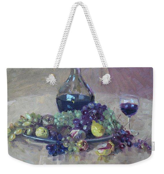 Grape And Wine Weekender Tote Bag