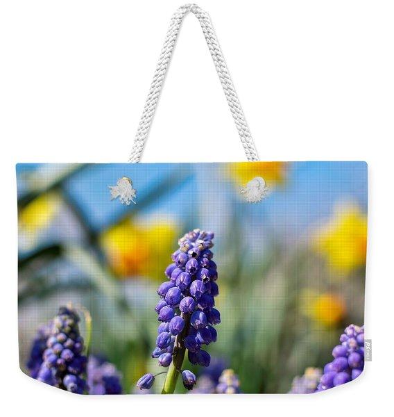 Grape Hyacinth Weekender Tote Bag