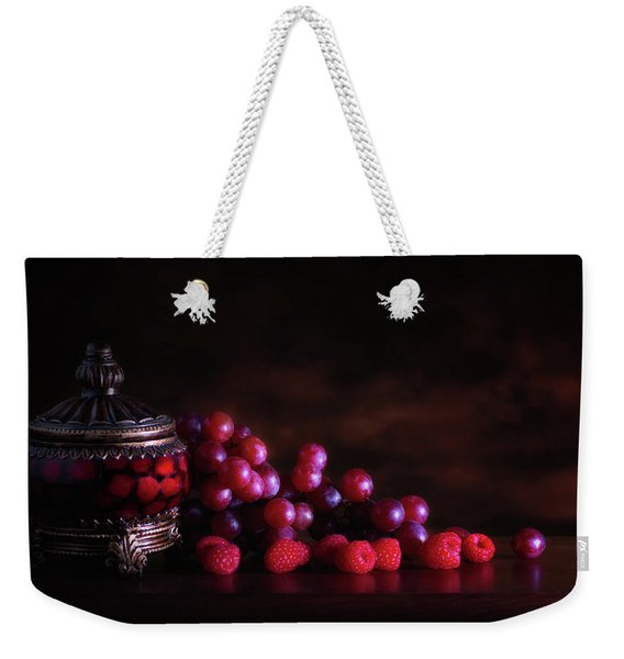 Grape Raspberry Weekender Tote Bag