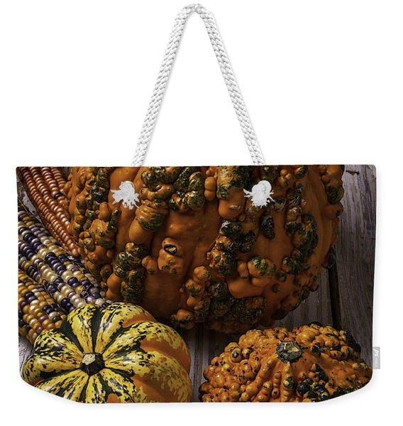 Graphic Knuklehead Pumpkin Weekender Tote Bag
