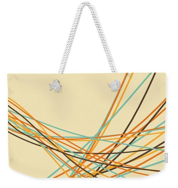 Graphic Line Pattern Weekender Tote Bag